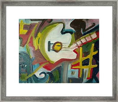 Guitar Muse In C Sharp Framed Print by James Christiansen