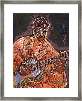 Guitar Player Framed Print by Deryl Daniel Mackie