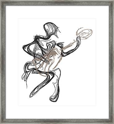 Guitar Player Framed Print by Michael Lee