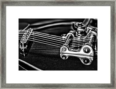 Guitar Reflection Framed Print by Karol Livote