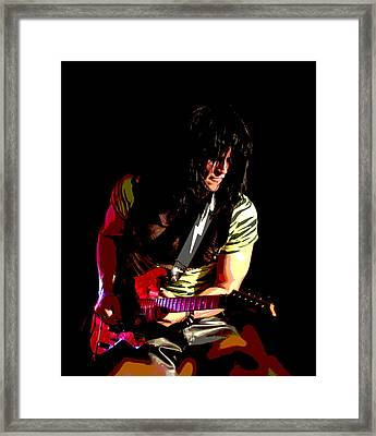 Guitar Shred Framed Print by James Hammen