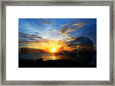 Guitar Sunset - Guitars By Sharon Cummings Framed Print by Sharon Cummings