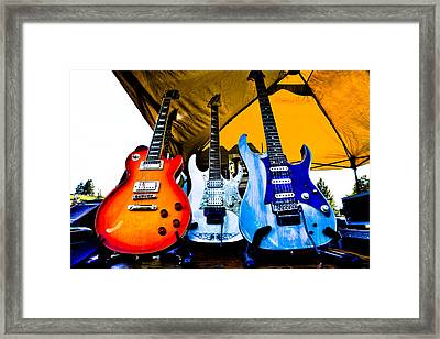 Guitar Trio Framed Print by David Patterson