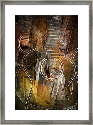 Guitar Works Framed Print by Randall Nyhof