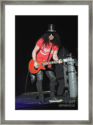 Guitarist Slash Saul Hudson Framed Print by Concert Photos