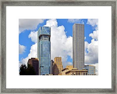 Gulf Building Houston Texas Framed Print by Christine Till