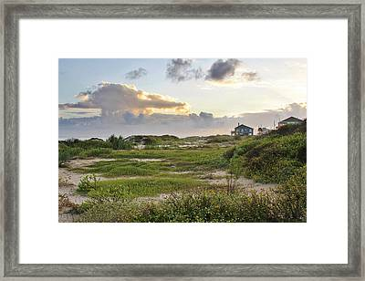 Gulf Coast Galveston Tx Framed Print by Christine Till