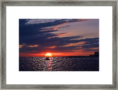 Gulf Coast Sunset Framed Print by Laura Fasulo