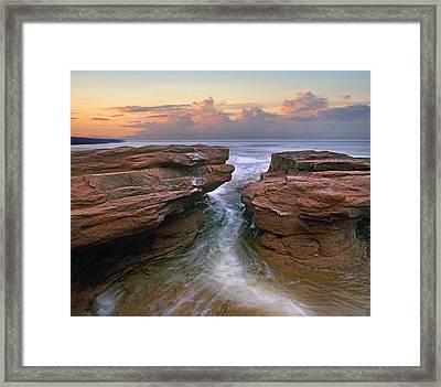 Gulf Of Saint Lawrence Coast Prince Framed Print by Tim Fitzharris