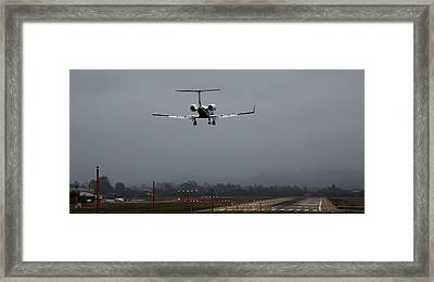 Gulfstream Approach Framed Print by John Daly