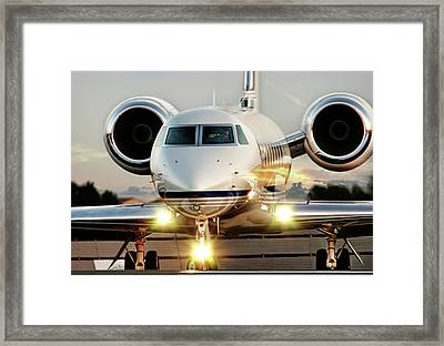 Gulfstream G550 Framed Print by James David Phenicie
