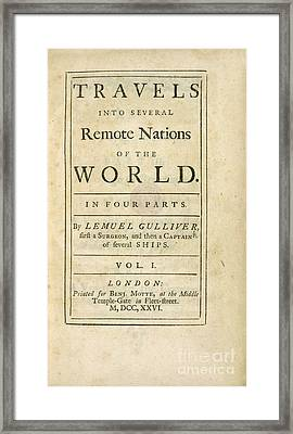 Gulliver's Travels (1726) Framed Print by British Library
