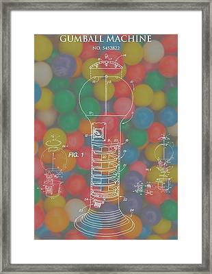 Gumball Machine Framed Print by Dan Sproul