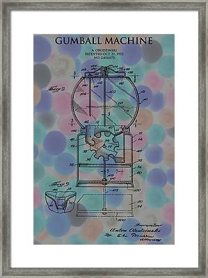 Gumball Machine Poster 2 Framed Print by Dan Sproul