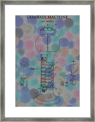 Gumball Machine Poster Framed Print by Dan Sproul