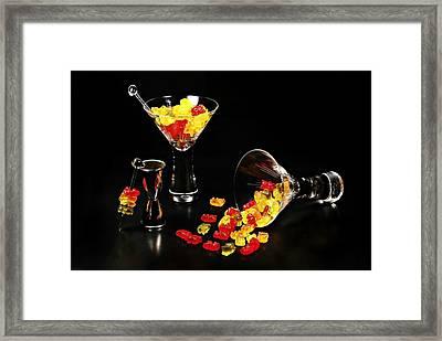 Gummy Bear Martini Framed Print by Diana Angstadt