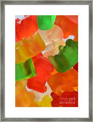 Gummy Bears Framed Print by Photo Researchers, Inc.
