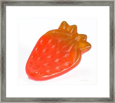 Gummy Strawberry Framed Print by Iris Richardson