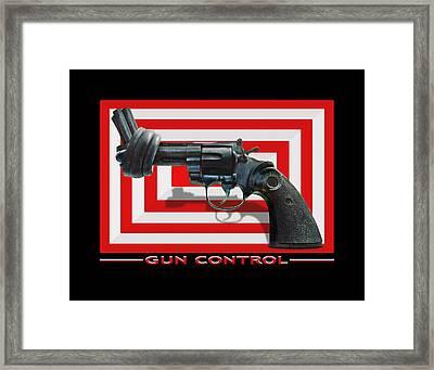Gun Control Framed Print by Mike McGlothlen