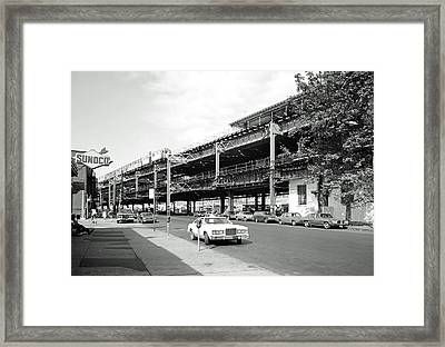 Gun Hill Road Station Bronx - Nyc 1984 Framed Print by Mountain Dreams