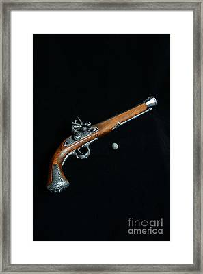 Gun - Musket With Musket Ball Framed Print by Paul Ward