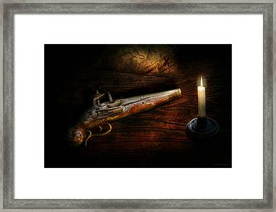 Gun - Pistol - Romance Of Pirateering Framed Print by Mike Savad