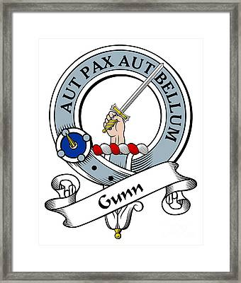 Gunn Clan Badge Framed Print by Heraldry