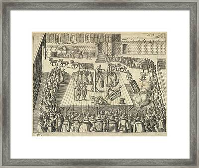 Gunpowder Plotters Executed Framed Print by British Library