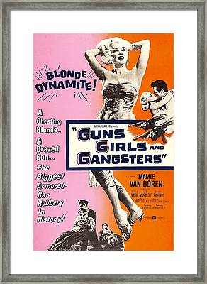 Guns Girls, And Gangsters, Us Poster Framed Print by Everett