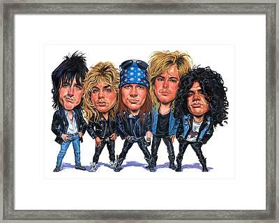 Guns N' Roses Framed Print by Art