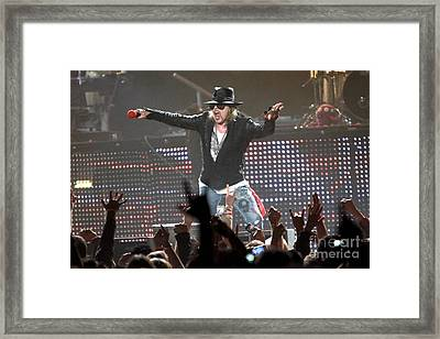 Guns N' Roses Framed Print by Front Row  Photographs