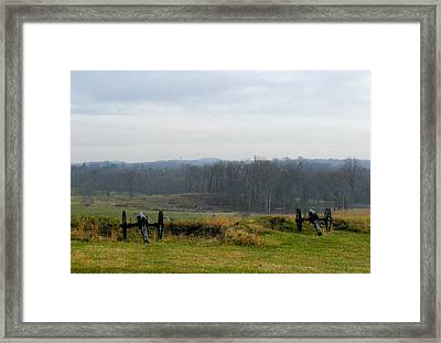 Guns Of Gettyburg Framed Print by Feva  Fotos