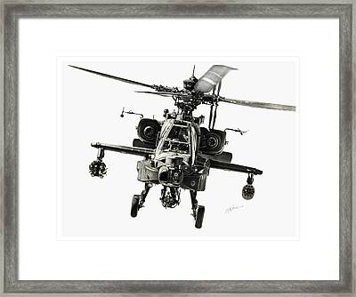 Gunship Framed Print by Murray Jones