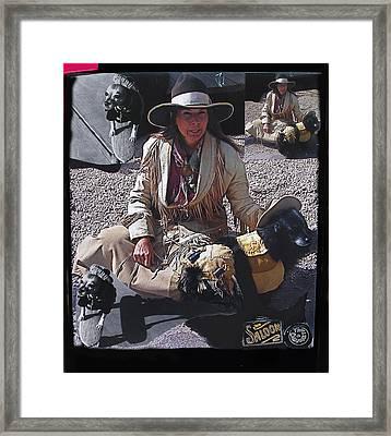 Gunslinger Dog Collage Tombstone Arizona 2004-2010 Framed Print by David Lee Guss