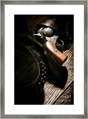 Gunslinger Tool Framed Print by Olivier Le Queinec