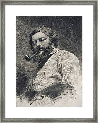 Gustave Courbet Framed Print by Etienne Gabriel Bocourt
