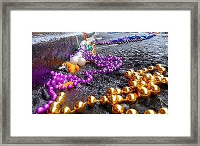 Gutter Beads Framed Print by Sherry Dooley