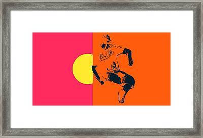 Guy Floating Framed Print by Toppart Sweden