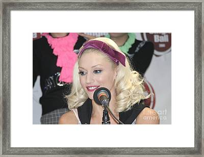 Singer Gwen Stefani Framed Print by Concert Photos