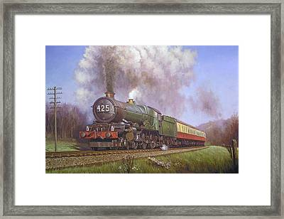 Gwr King Class On Dainton Bank. Framed Print by Mike  Jeffries