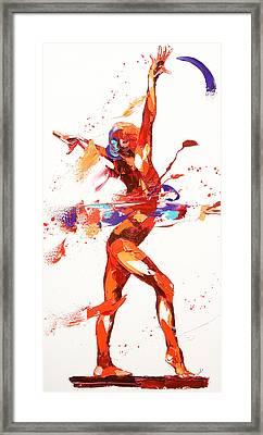 Gymnast Four Framed Print by Penny Warden