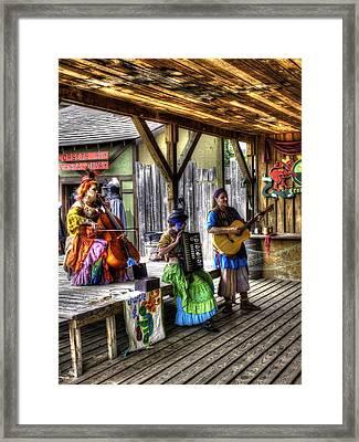 Gypsy Folk Band Crown Inn Framed Print by John Straton