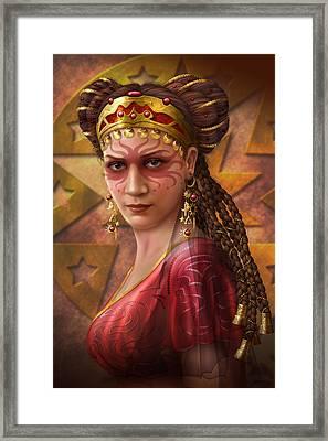 Gypsy Woman Framed Print by Ciro Marchetti