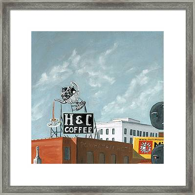 H And C Coffee Framed Print by Todd Bandy