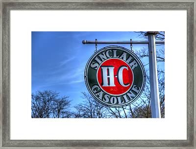 H-c Sinclair Gasoline Framed Print by David Simons