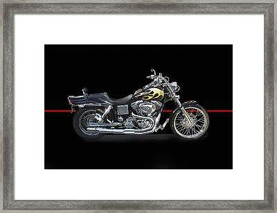 H D Dyna Twin Studio Framed Print by Dave Koontz