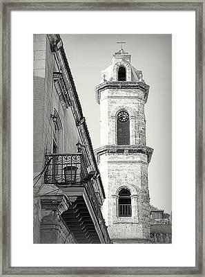 Habana Clock Tower Framed Print by Valentino Visentini