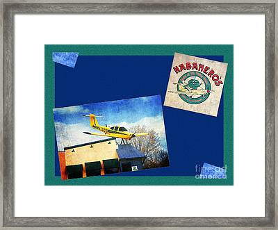 Habanero's Home Of The Flying Pepper Composite Framed Print by Andee Design