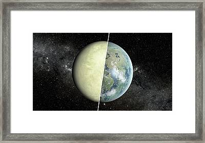 Habitable Vs Non-habitable Zone Planet Framed Print by Nasa/jpl-caltech/ames