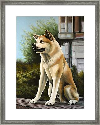 Hachi Painting Framed Print by Paul Meijering